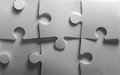 Jigsaw puzzle background of in b w Stock Photo