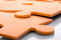 Jigsaw puzzle closeup of pieces Stock Photography