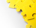 Jigsaw puzzle closeup of pieces with space Stock Photo