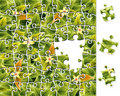 Jigsaw Puzzle Flower Pattern Royalty Free Stock Image