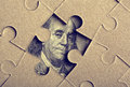 Jigsaw puzzle with Franklin Stock Image