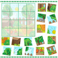 Jigsaw puzzle game with farm garden