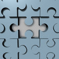 Jigsaw puzzle missing blue pieces Royalty Free Stock Photography