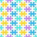 Jigsaw puzzle seamless pattern colorful background with joined pieces Stock Image