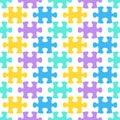 Jigsaw puzzle seamless pattern Royalty Free Stock Photo