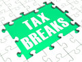 Jigsaw Puzzle Shows Tax Breaks Royalty Free Stock Photography