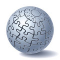 Jigsaw puzzle sphere Royalty Free Stock Photo