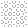 Jigsaw puzzle white blank parts template x pieces Stock Image