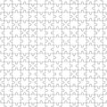 Jigsaw Seamless Pattern with white puzzle pieces Royalty Free Stock Photo
