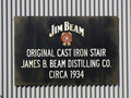 Jim beam sign of the stillhouse and distillery at clermont kentucky usa is a brand of kentucky straight bourbon whiskey Royalty Free Stock Images