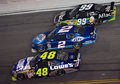 Jimmie Johnson, Kurt Busch, and Carl Edwards Stock Images