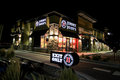 Jimmy john s at night image of a location Royalty Free Stock Photography