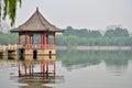 Jinan Daming Lake and pavilion Royalty Free Stock Photo