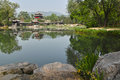 Jinci park the landscape of in taiyuan shanxi china Stock Image
