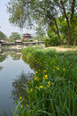 Jinci park the landscape of in taiyuan shanxi china Royalty Free Stock Images