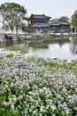 Jinci park the spring scenery of in taiyuan shanxi china Royalty Free Stock Images