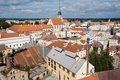 Jindrichuv hradec czech republic center of historic town from tower castle southern bohemia Royalty Free Stock Photo