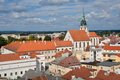 Jindrichuv hradec czech republic center of historic town from tower castle southern bohemia Stock Image