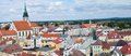 Jindrichuv hradec czech republic historic town from tower castle southern bohemia Stock Photos