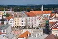 Jindrichuv hradec czech republic historic town from tower castle southern bohemia Stock Photo