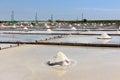 Jing-Zai-Jiao Tile-Paved Salt Fields in Tainan Royalty Free Stock Photo