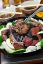 Japanese style lamb barbecue Royalty Free Stock Photo