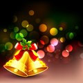 Jingle bell in christmas background illustration of Royalty Free Stock Photography