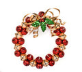 Jingle bell wreath Stock Images