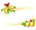 Jingle Bells and Christmas decorative corners Stock Images