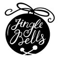 Jingle bells lettering background Royalty Free Stock Photo