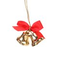 Jingle bells with red ribbon two christmas isolated on a white background Stock Photo