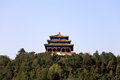 Jingshan park wanchun pavilion beijing china ten thousand spring or all time spring on the middle of the five summits sits at Stock Photos