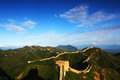 Jinshanling great wall is located in chengde city hebei province luanpingxian territory and neighbouring beijing miyun county Royalty Free Stock Photography