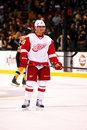 Jiri hudler detroit red wings Foto de Stock Royalty Free