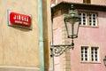 Jirska Street Sign - Prague - Czech Republic Royalty Free Stock Photo