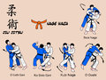 Jiu Jitsu orange belt Stock Photo