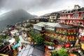 Jiufen hillside teahouses in new taipei taiwan Royalty Free Stock Photo