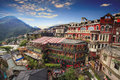 Jiufen, Taipei, Taiwan. The meaning of the Chinese text in the p Royalty Free Stock Photo