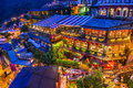 Jiufen taiwan hillside teahouses in Stock Images
