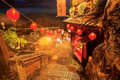 Jiufen taiwan hillside teahouses in Royalty Free Stock Photography