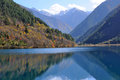 Jiuzhaigou rhinoceros lake Stock Photography