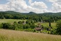 Jizerske hory czech republic village oldrichov v hajich in northern bohemia Royalty Free Stock Image