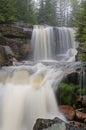 Jizerske hory czech republic waterfall in the river jedlova in the jizera mountains northern bohemia Royalty Free Stock Photography