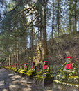 Jizo statues nikko japan along kanmangafuchi abyss Stock Photo