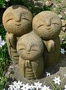 Jizo at the temple in kamakura japan Stock Photography