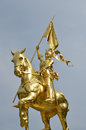 Joan of arc jeanne d arc is a gilded bronze equestrian sculpture by emmanuel frémiet inaugurated in the original statue was Stock Images