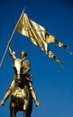 Joan of arc jeanne d arc new orleans is a gilded bronze equestrian sculpture by emmanuel frémiet inaugurated in the original Stock Photography