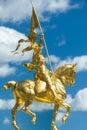 Joan of Arc statue at Philadelphia Museum of Art Royalty Free Stock Photo