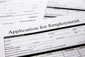Job application form employment human resources and business concepts Royalty Free Stock Photos