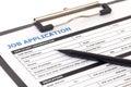 Job application form isolated Royalty Free Stock Photo